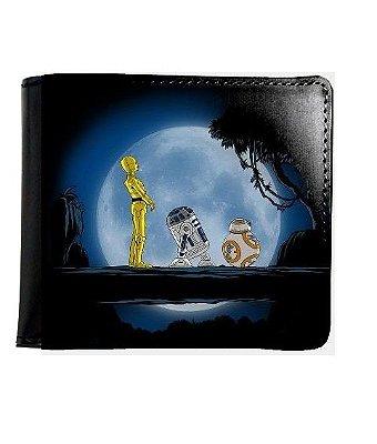 Carteira Star Wars: R2D2 C3PO BB8