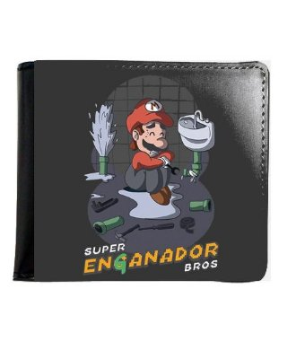 Carteira Super Mario Enganador Bros