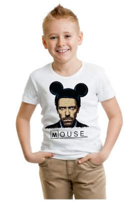 Camiseta Infantil Dr House: Mouse