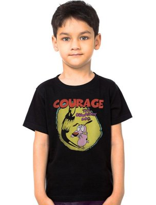 Camiseta Infantil Cachorro Coragem
