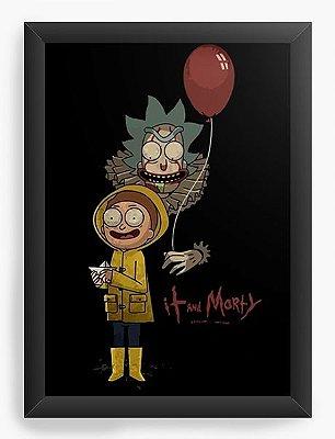 Quadro Decorativo Rick and Morty It