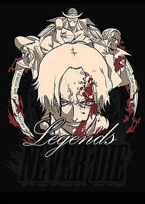Camiseta Anime One Piece Legends Never Die