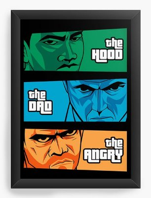 Quadro Decorativo the Hood, the Dad & the Angry