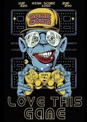 Camiseta Pac Man Love This Game