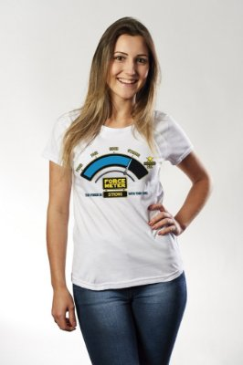 Camiseta Feminina Star Wars Force Meter Strong