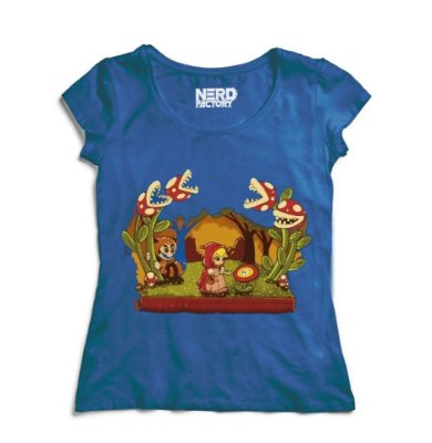 Camiseta Feminina Little Red Hood Peach