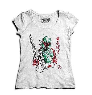 Camiseta Feminina Star Wars: Boba Fett