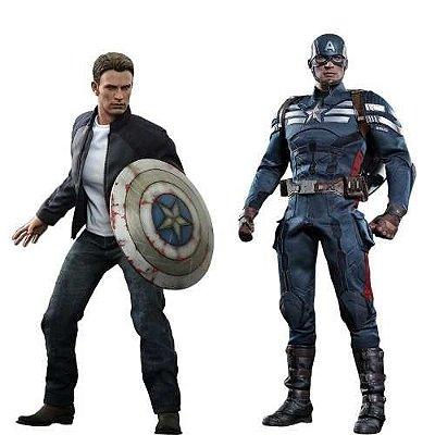 Captain America E Steve Rogers Mms243 - Hot Toys