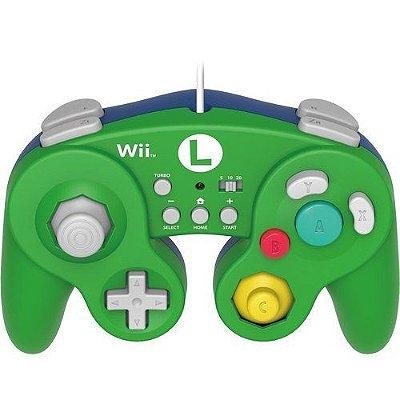 Controle Hori Battle Pad (Edição Luigi) - Wii U / Wii