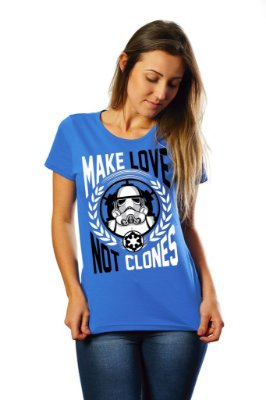 Camiseta Make Love Not Clones