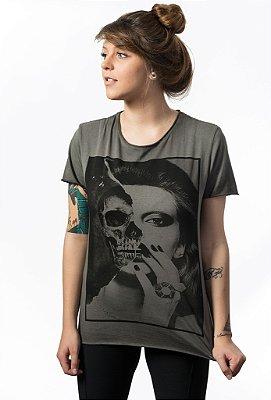 Camiseta Corte a Fio Skull Girl