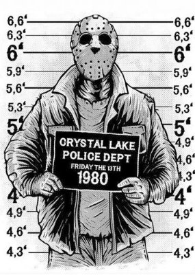 Camiseta Jason Police Dept 1980