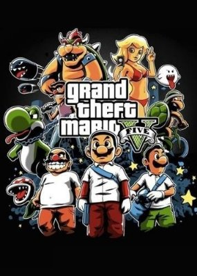 Camiseta Grand Theft Mario