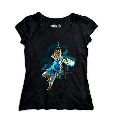 Camiseta Feminina Legend of Zelda Breath of The Wild