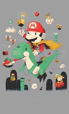 Camiseta O pequeno Mario Bros