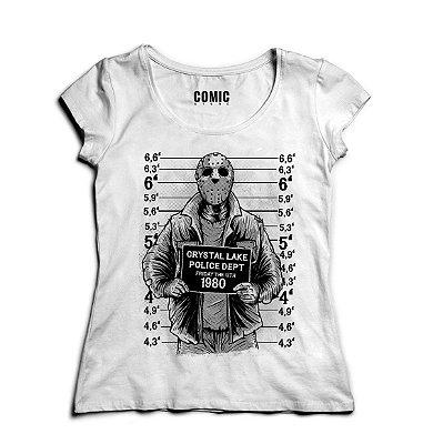 Camiseta Feminina Jason Police Dept 1980