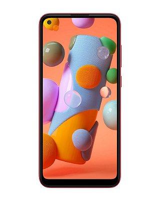 """Smartphone Samsung Galaxy A11 Dual Chip Android Tela Infinita 6.4"""" 64GB Câmera Tripla - Vermelho"""