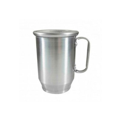 Caneca de Alumínio Chopp 500ml Prata