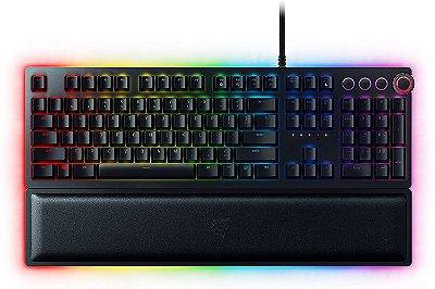 Razer Teclado para jogos Huntsman Elite: Teclas de teclado mais rápidas de todos os tempos - Interruptores ópticos Clicky - Iluminação Chroma RGB (Encomenda, 10 Dias úteis)