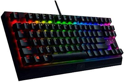 Razer Teclado mecânico para jogos BlackWidow V3 Tenkeyless: interruptores mecânicos Razer - iluminação Chroma RGB - fator de forma compacto - funcionalidade macro programável, preto clássico (Encomenda, 10 Dias úteis)