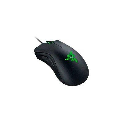 Razer Mouse essencial para jogos DeathAdder: sensor óptico 6400 DPI - 5 botões programáveis - interruptores mecânicos - punhos laterais de borracha - preto clássico (Encomenda, 10 Dias úteis)