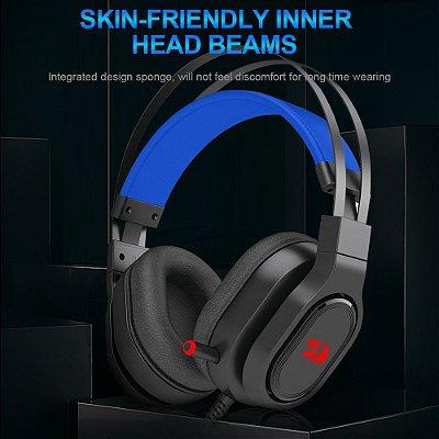 Fone de ouvido para jogos Redragon Epeius H360, som surround USB 7.1 Fones de ouvido para computador Fones de ouvido com microfone para PC PS4 Xbox One
