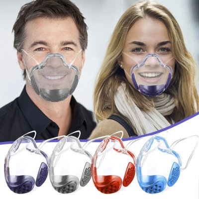 Máscara em Acrílico com Filtro em Espuma (trocável) - 5 Cores - Frete Grátis