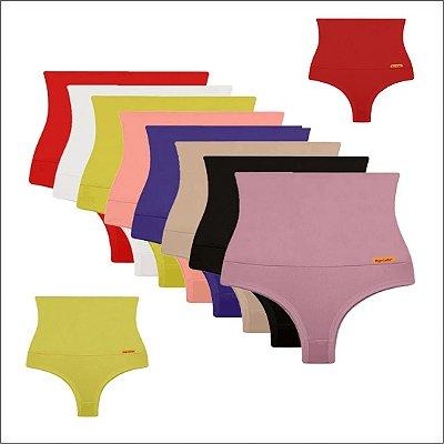 """Kit com 5 Calcintas - Modeladoras s"""" Magic Confort - Cores Variadas - Até GG"""