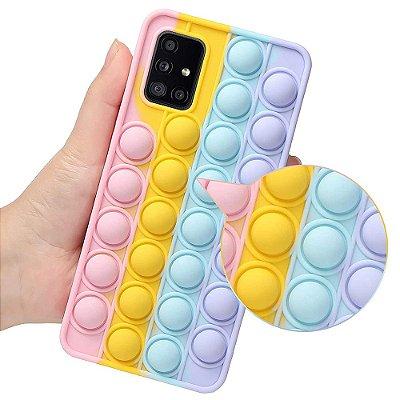 """Capa para Celular Efeito """"Estoura Bolha"""" - Anti-estresse - Anti-impacto e Poeira - P/todos os Modelos iPhone e Samsung - Frete Grátis"""