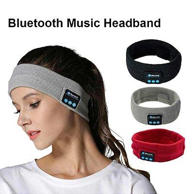 Box Sucesso Shop: Bandana/Faixa Fone de Ouvido em Algodão - Unissex - Bluetooth - Sem Fio - Ideal para Academia ou Dormir - 4 Cores - Frete Grátis