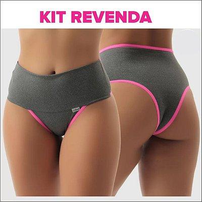 Kit Revenda: 100 ou 200 Calcinhas  Modeladoras em Polifitness-  Compressão - Até XGG