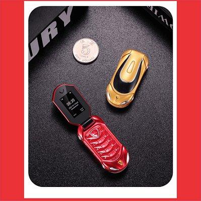 LANÇAMENTO: Mini Celular Ferrari Flip 3.0 - Antifurto - Bluetooth -  Mede 6,1 centímetros - Pesa Apenas 34 gramas -  Frete Grátis