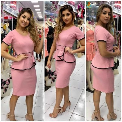 """-Andreza Store-: Vestido Evangélico Tubinho """"Trini"""" - Modela a Cintura - 3 Cores"""