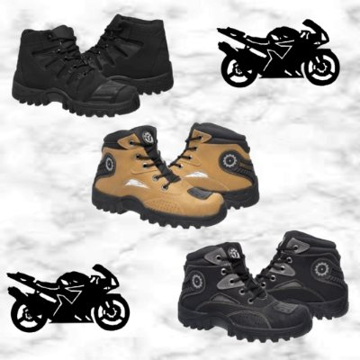 -Andreza Store-: Kit com 3 Pares de Botas Adventure - 3 Cores - Até 44