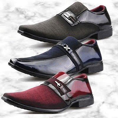 -Box Olanella-: Kit com 3 Pares de Sapatos Sociais Neway - 3 Modelos - Até 44