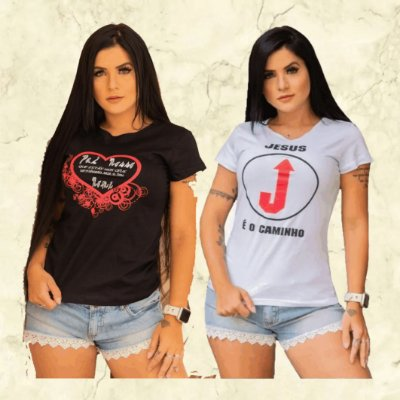 -Evangelys-:  Kit com 10 Camisetas - Estampas Moda Evangélica - Cores Variadas - Até GG- Envio Imediato