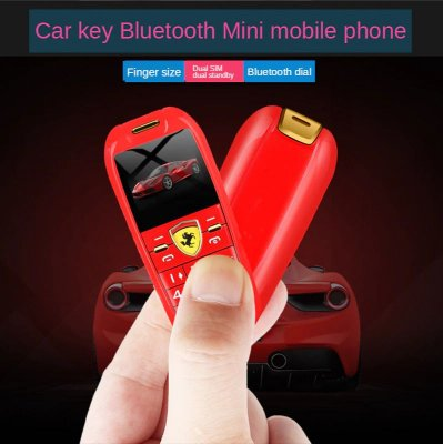 Mini Celular Ferrari 32GB - Antifurto - Bluetooth - Dual Chip - MP3 - Mede 6,7 centímetros - Pesa Apenas 65 gramas -  Câmera - Frete Grátis