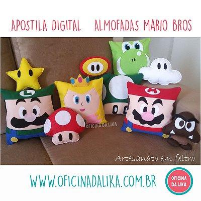 APOSTILA MOLDE ALMOFADA MARIO BROS