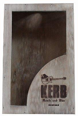 Quadro Porta Tampinhas Kerb - 29x19x5cm