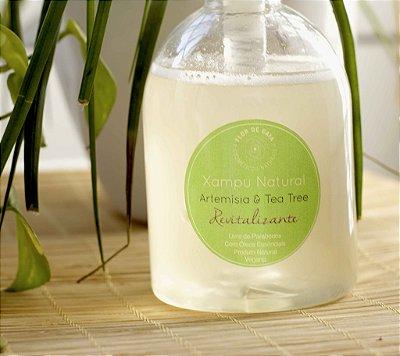 Xampu Natural 0% Lauril Revitalizante de Artemísia e Tea Tree - 300ml