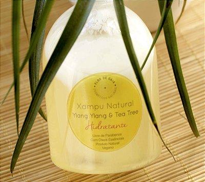 Xampu Natural 0% Lauril Hidratante de Ylang Ylang e Tea Tree - 300ml