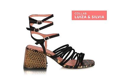 Sandália Salto Médio, Salermo - Luíza Barcelos & Silvia Braz