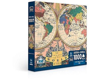 O Novo Mapa do Mundo - 1928 - Quebra-cabeça - 1000 peças