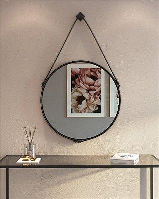 Espelho Estilo Adnet com Cinto Ø 60 cm