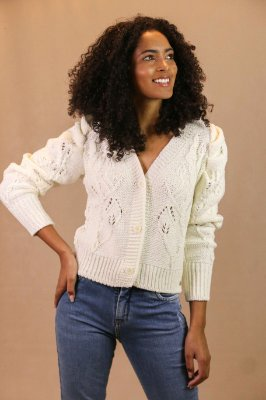 CASACO TRICOT 2853 JOICE - OFF WHITE