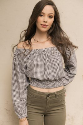 BLUSA CROPPED VICHY 2893 ISIS