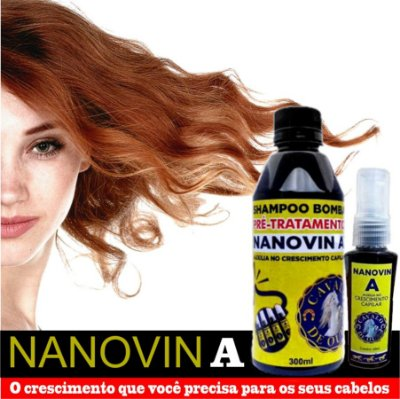 Kit Shampoo Bomba e Tônico Capilar Nanovin A