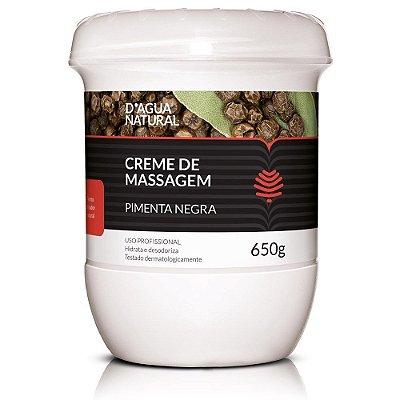 Creme de massagem Pimenta Negra 650g - D'água Natural