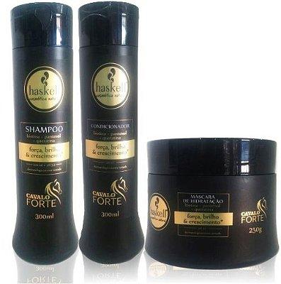 Haskell Kit Cavalo Forte shampoo-condicionador 250ml-máscara 250g