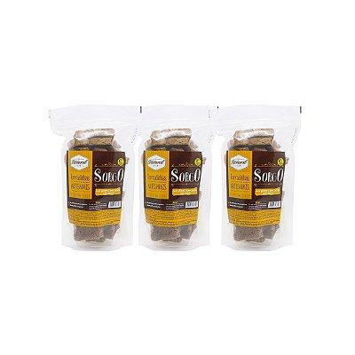 Kit com 3 Torradinhas Artesanais de Sorgo Sem Glúten e Lactose 100g cada